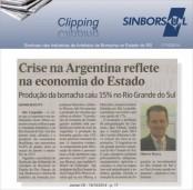 Crise na Argentina reflete na Economia do Estado